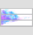 set horizontal banners realistic watercolor vector image vector image
