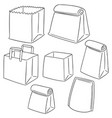 set of paper bag vector image