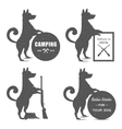 set sign dog vector image