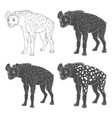 set with spotted hyena vector image vector image