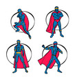 superhero set vector image