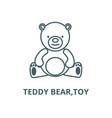 teddy beartoy line icon linear concept vector image