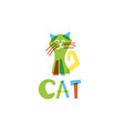 template icon funny cat vector image