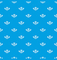 thermometer pattern seamless blue vector image vector image