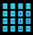 web icon 16 black blue vector image vector image