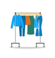 women jeans clothes hanging on hanger rack vector image