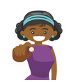 young african-american woman taking pills vector image vector image