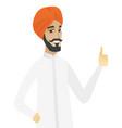 young hindu businessman giving thumb up vector image