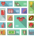 American football flat icons vector image