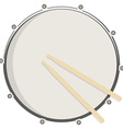 Drum and sticks vector image