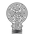 idea maze game white background vector image
