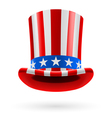 Top hat made of US flag vector image