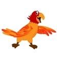 funny cartoon parrot vector image