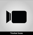 Video camera flat icon on grey background vector image