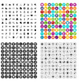 100 sports activities icons set variant vector image vector image
