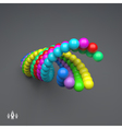 3d Colorful Spheres Composition Template vector image