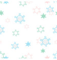 abstract cute virus seamless pattern coronavirus vector image vector image
