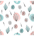 abstract hand drawn floral doodle pattern vector image