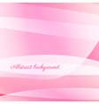 Abstract wavy background in pink vector image