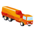 airplane fuel truck cartoon isolated object on vector image vector image