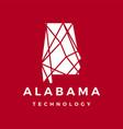 alabama technology connection geometric polygonal vector image