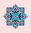 arabesque pattern vignette in oriental style vector image vector image
