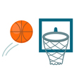 basketball shot vector image
