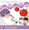 biotechnologist occupation vector image