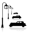 car and street light vector image vector image