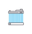 car radiator thin line stroke icon car vector image vector image