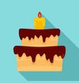 celebration cake icon flat style vector image