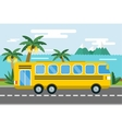 City bus cartoon style icon silhouette vector image