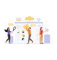 cloud computing web hosting web services concept vector image