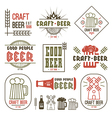 Craft beer brewery emblems vector image vector image