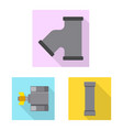 design of pipe and tube icon collection of vector image
