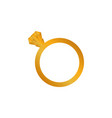 diamond gold engagement ring icon vector image