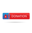 donation blood color vector image vector image