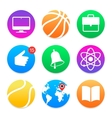 Education icons School symbols set vector image vector image