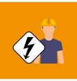 electricity power icon vector image vector image