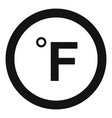 fahrenheit icon simple black style vector image vector image