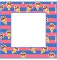 Frame Ice Cream eps 10 vector image