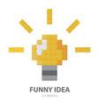 funny idea symbol vector image