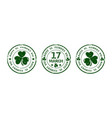 green round stamp for st patricks day vector image vector image