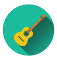 Icon of acoustic guitar vector image vector image