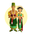 indonesian central java wedding ceremony vector image vector image
