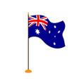 isolated flag of australia vector image