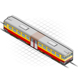 isometric electric train vector image