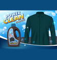 liquid laundry detergent advertising poster vector image