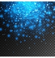 magic blue glow light effect isolated vector image vector image