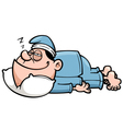 Man sleeping vector image